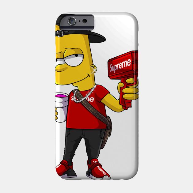 Supreme Bart Bart Simpson Phone Case Teepublic