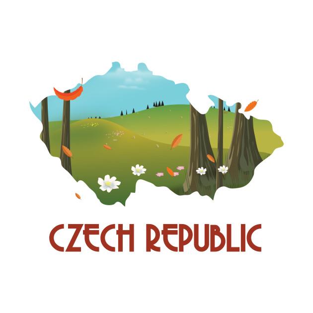 Czech republic travel map