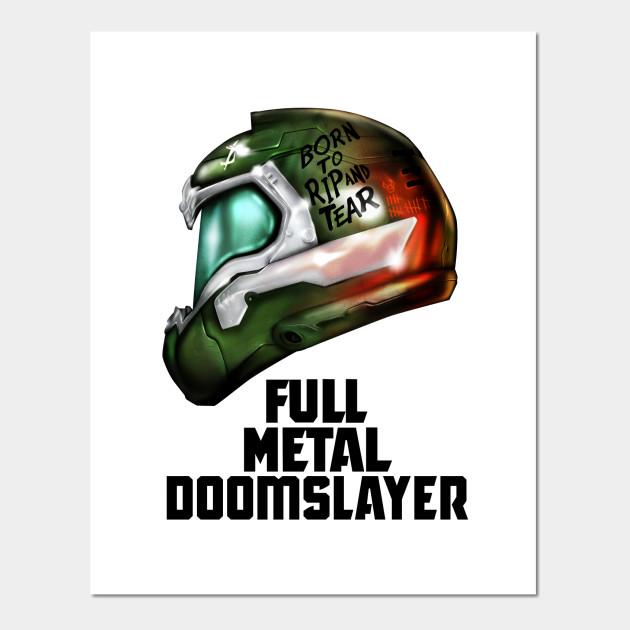 Full Metal Doomslayer V2 Doom Posters And Art Prints Teepublic