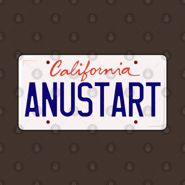 Tobias Funke Anustart A New Start License Plate