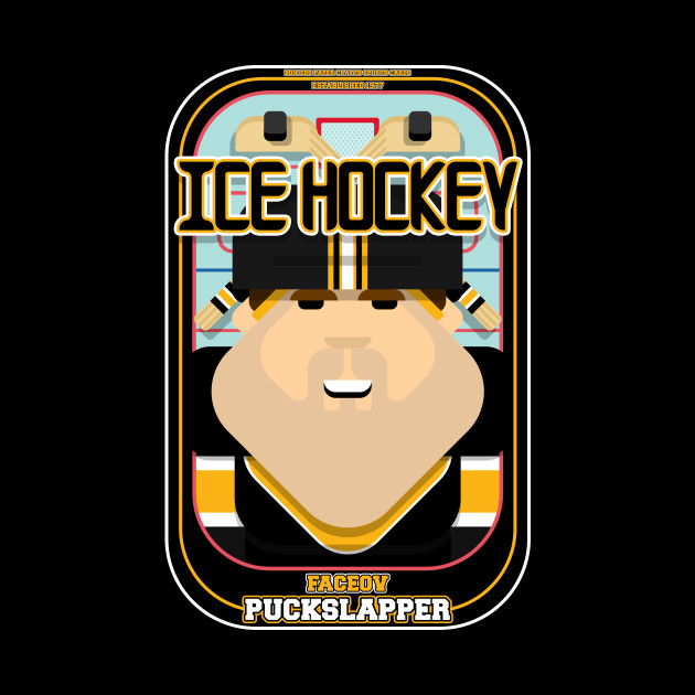 Ice Hockey Black and Yellow - Faceov Puckslapper - Bob version