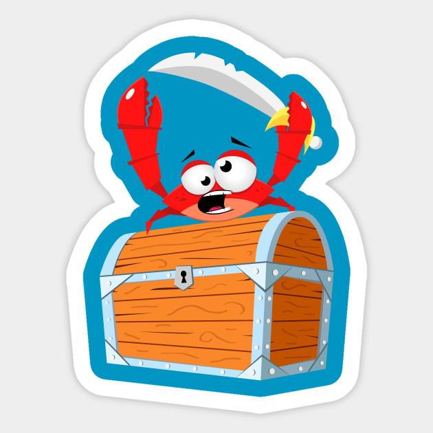 pirate crab pirate sticker teepublic