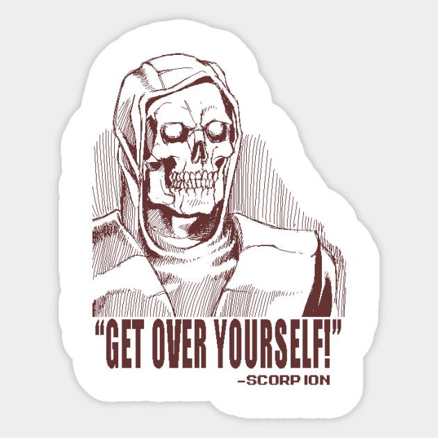 Mortal Kombat Scorpion Sketch Mortal Kombat Sticker Teepublic