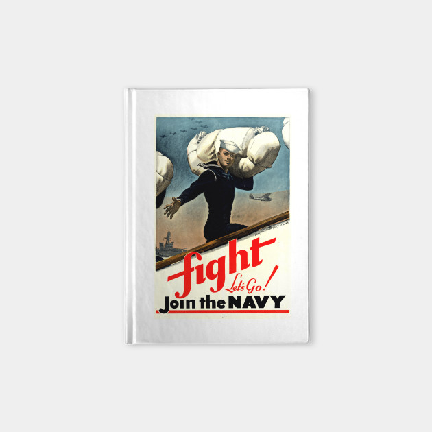 Fight - Let's Go! Join the Navy: Vintage US Navy Recruiting Poster