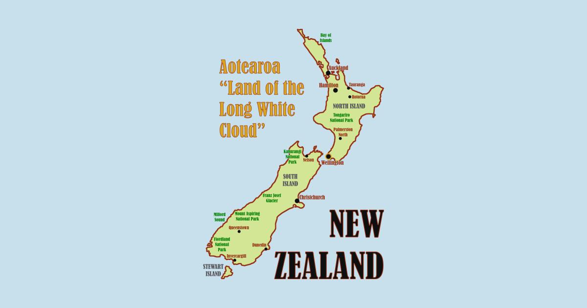 New Zealand Cities Map.New Zealand Map By Pr0metheus
