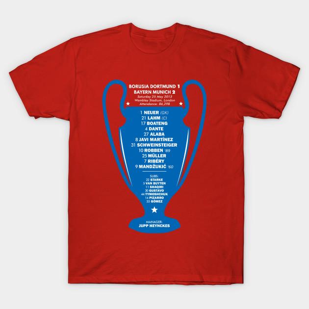 Bayern Munich 2013 Champions League Winners Bayern Munich T Shirt Teepublic
