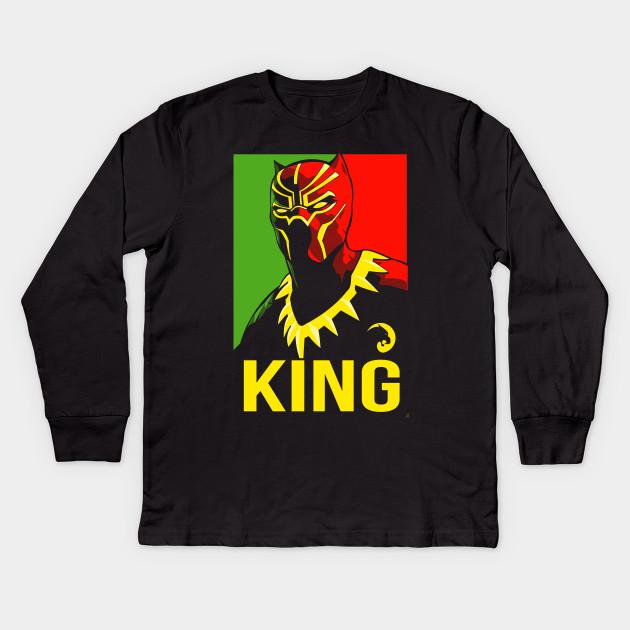 King of Wakanda - Black Panther - Kids Long Sleeve T-Shirt  f096f42c0