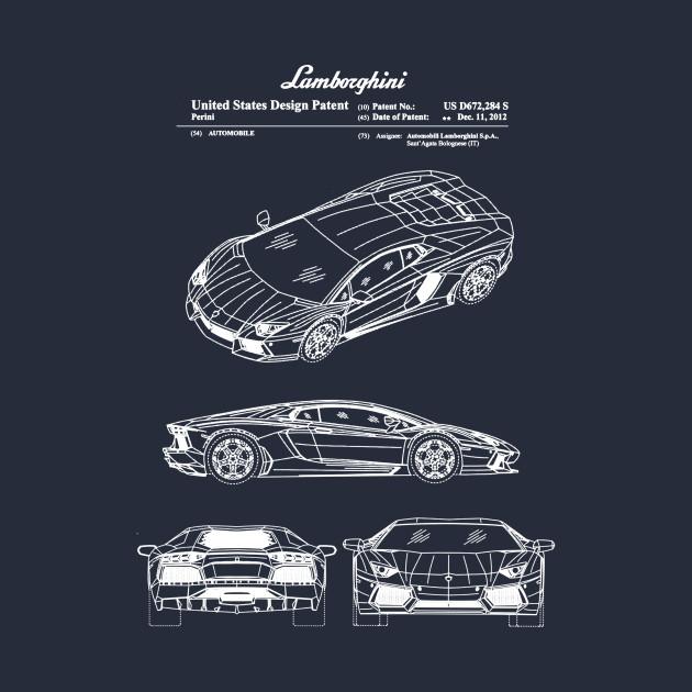 Lamborghini Aventador Patent White
