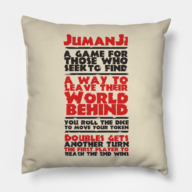 Jumanji rules - Jumanji - Throw Pillow TeePublic