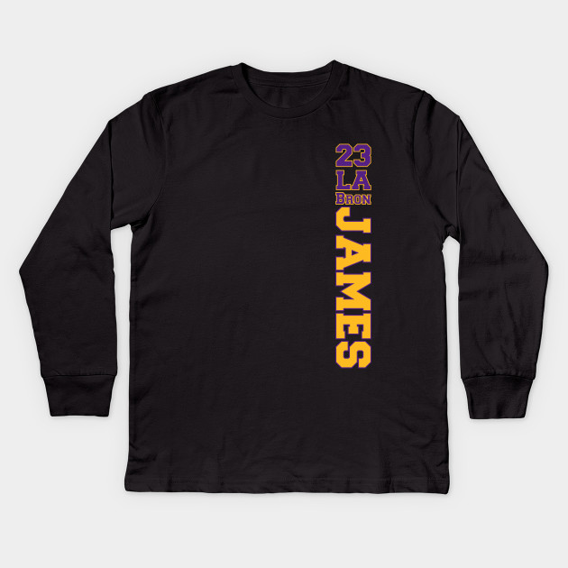 Lebron James Lakers - Lebron James - Kids Long Sleeve T-Shirt ... 6a492ac46