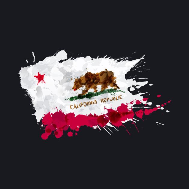 California Flag Splatter