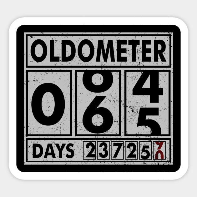 OLDOMETER 65 Years Old Made In 1953 65th Birthday Sticker