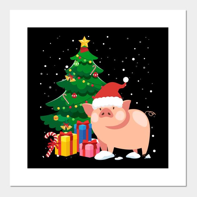 Christmas Poster.Pig Christmas