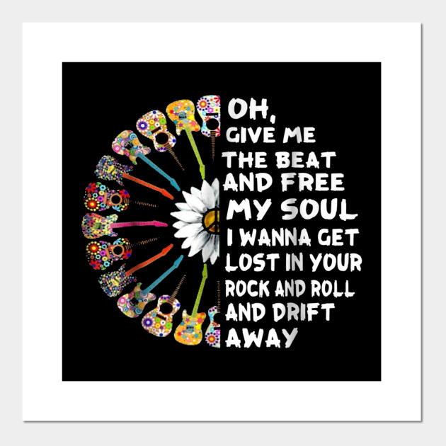 I Sold My Soul To Rock And Roll Text Art Graphic T Shirt Tee Shirt Print