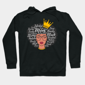 9868d4f7a156 Black Mom Afro Word Art Mothers Day Gift Hoodie