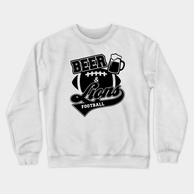 detroit lions crew neck sweatshirt