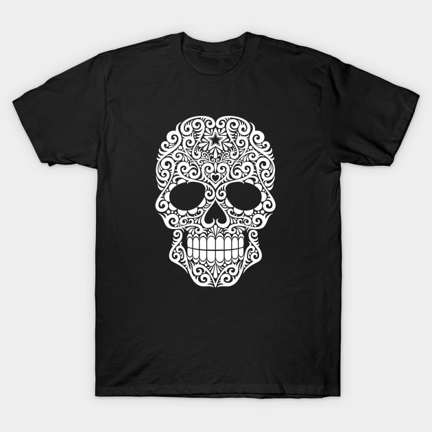 12e9c94b778 White Swirling Sugar Skull - Sugar Skull - T-Shirt