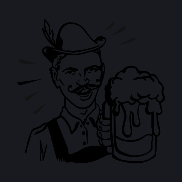 retro guy with beer