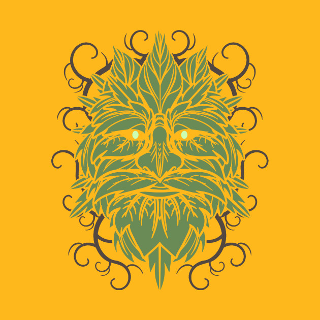 TRADITIONAL CELTIC WICCA PAGAN GREENMAN T-SHIRT AND MERCHANDISE ...