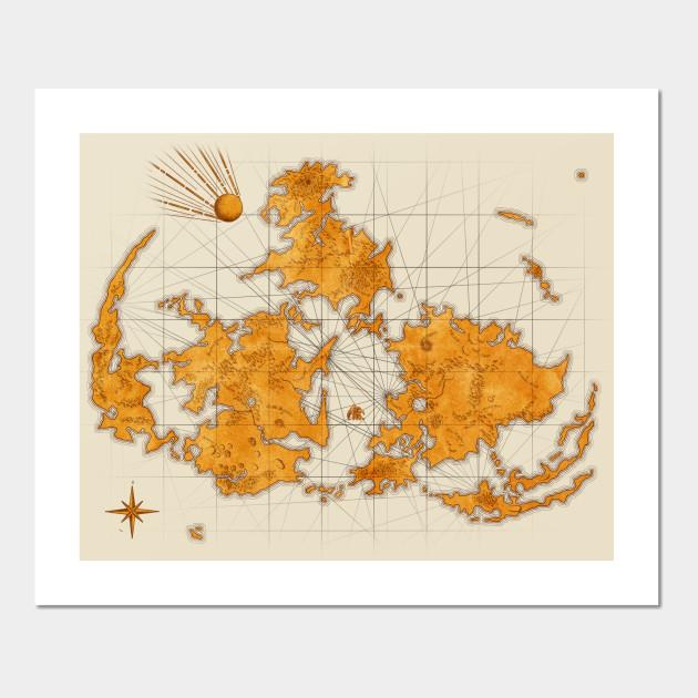 Final Fantasy VII Antique World Map