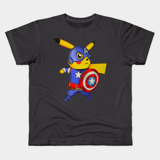 0fb5822f6 Captain Pikachu - Pokemon Mashup - Kids T-Shirt | TeePublic