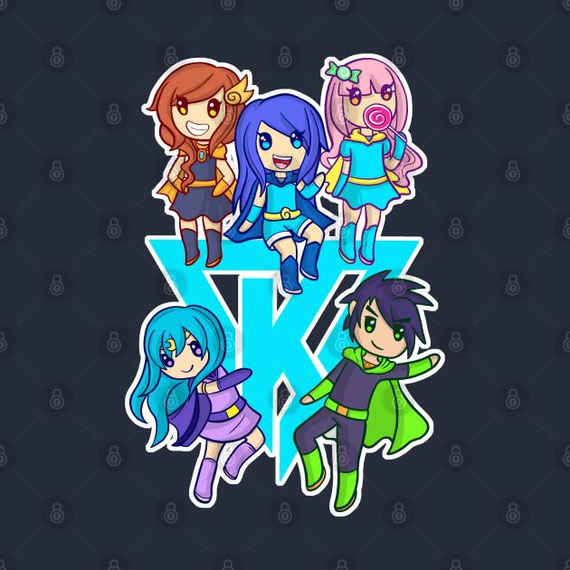 Krew on a blue K