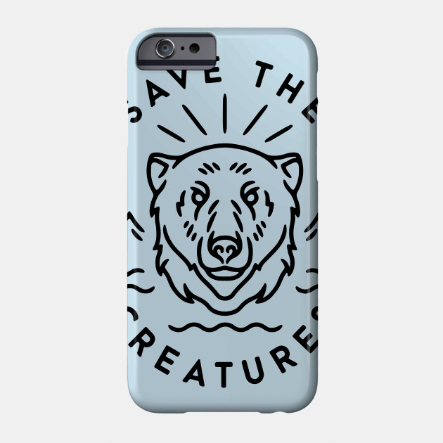 save the creatures activism animal rights earth Phone Case