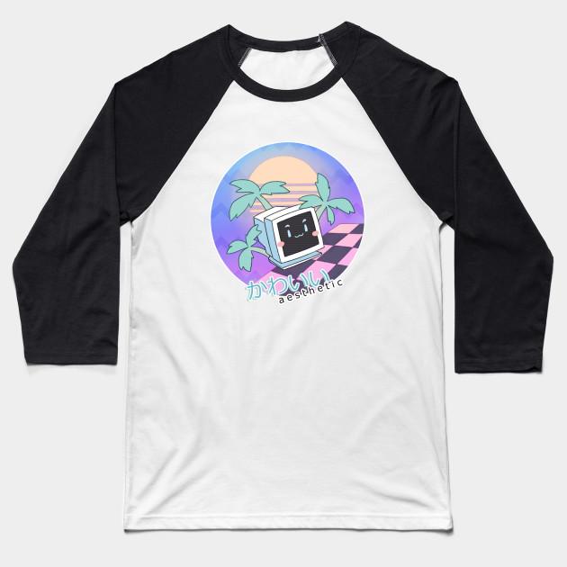 42b9b75cd883 kawaii a e s t h e t i c - Vaporwave - Baseball T-Shirt   TeePublic