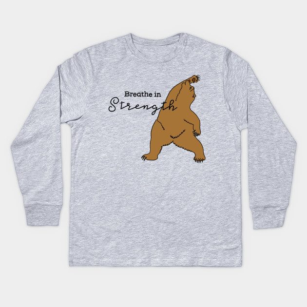 d8665ec18e Bear Yoga - Yoga - Kids Long Sleeve T-Shirt   TeePublic