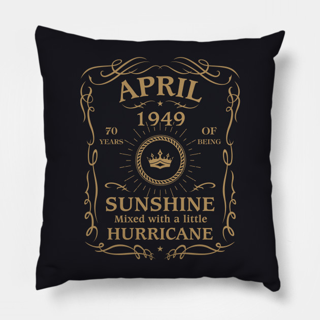 April 1949 Sunshine Mixed With A Little Hurricane Pillow