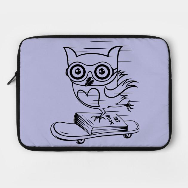 Owl With Skateboard