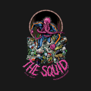 THE SQUID IN GARBAGE t-shirts