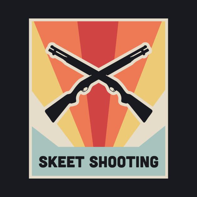 Vintage Style Shotgun Skeet Shooting Poster