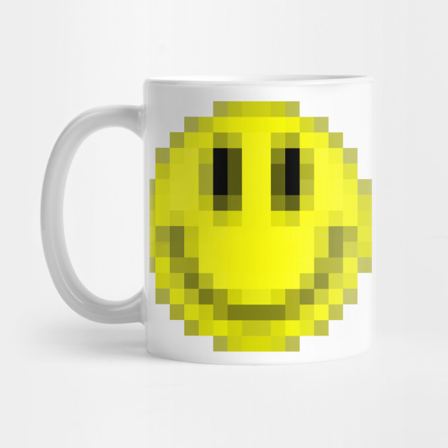 Pixelart Acid House Smiley Face By Dankfutura
