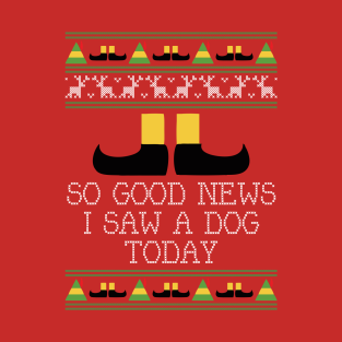 Good News Elf Quote Christmas Knit t-shirts
