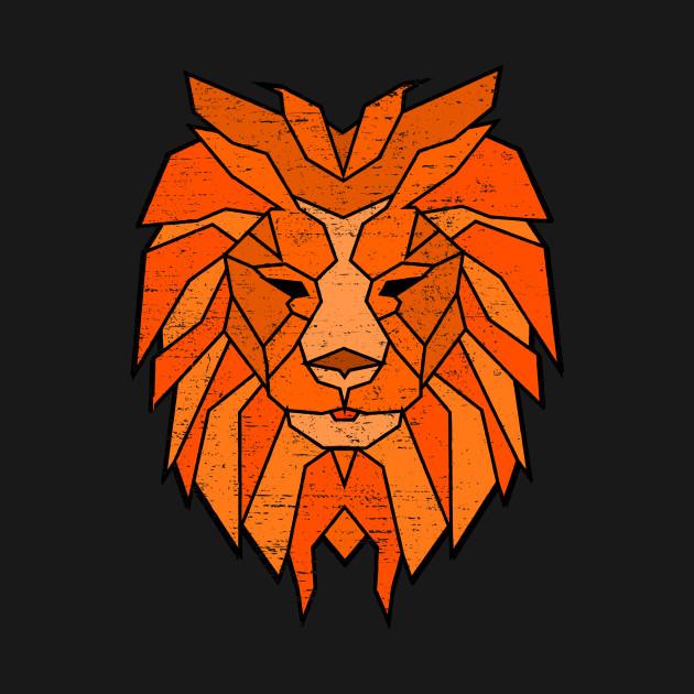 Polygonal Lion Face