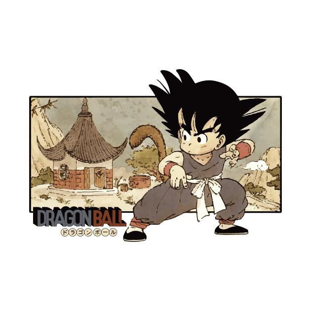 Son Goku on Mt. Paozu