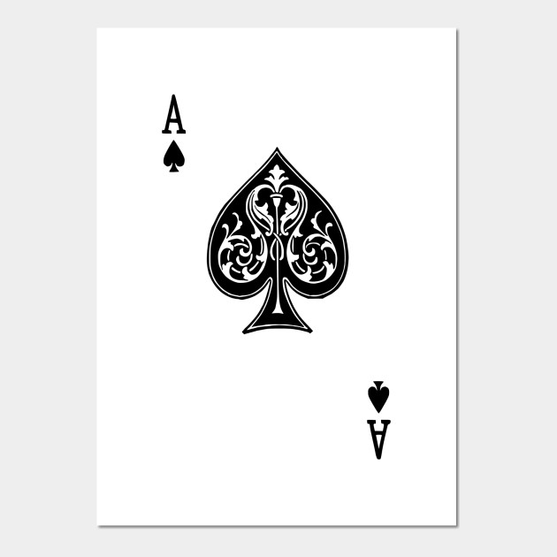 Ace Spades Spade Playing Card Game