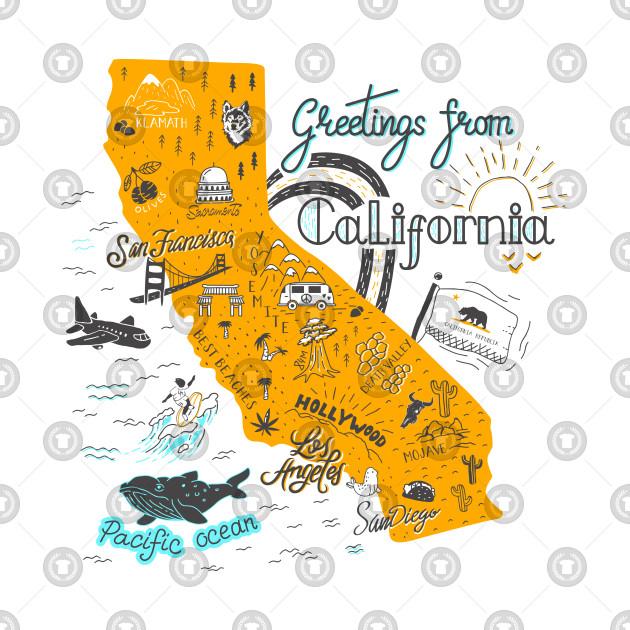 California Map Illustrated