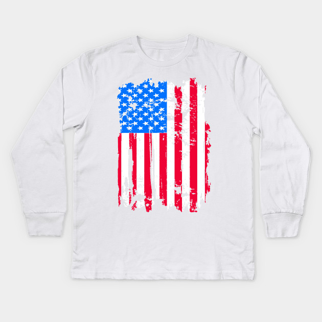 Usa Flag T Shirt 4th July 4 Red White Blue Stars Stripes Tee 4th