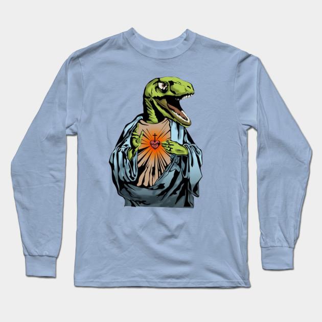dac3a174aa2 Raptor Jesus - Raptor Jesus - Long Sleeve T-Shirt   TeePublic