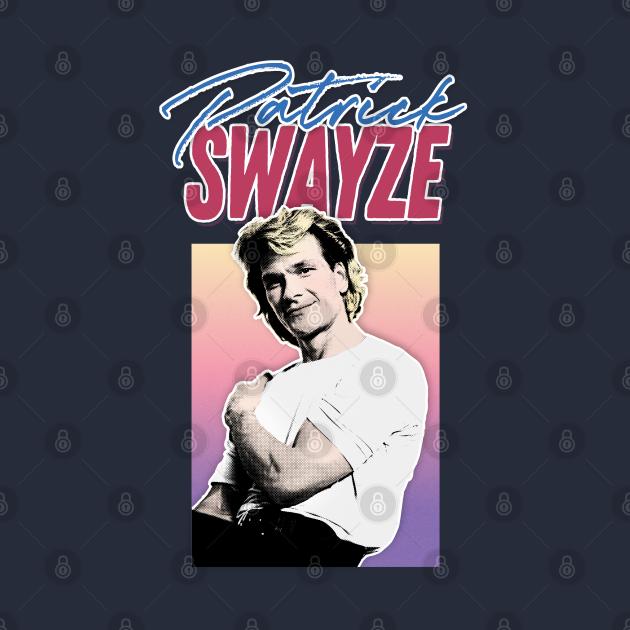 Patrick Swayze - Retro 90s Styled Fanart Design