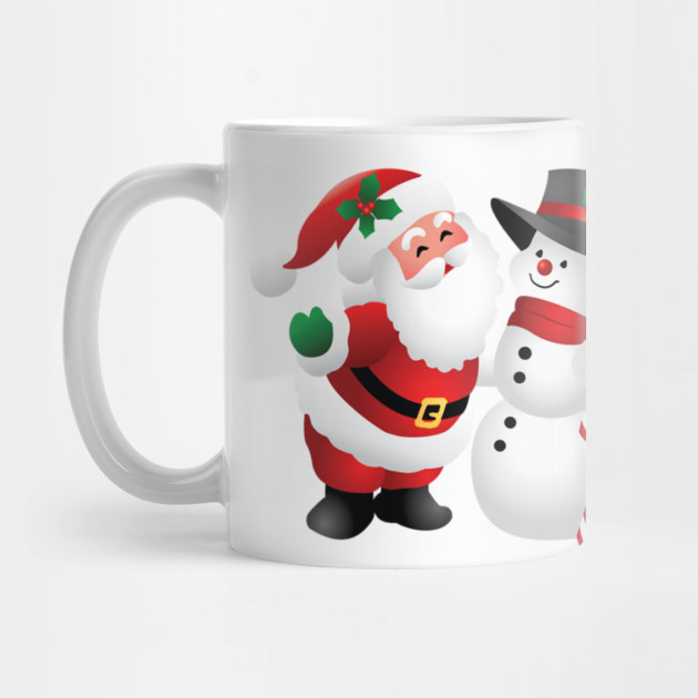 snowman santa-claus christmas christmas-ornament christmas-decoration Mug
