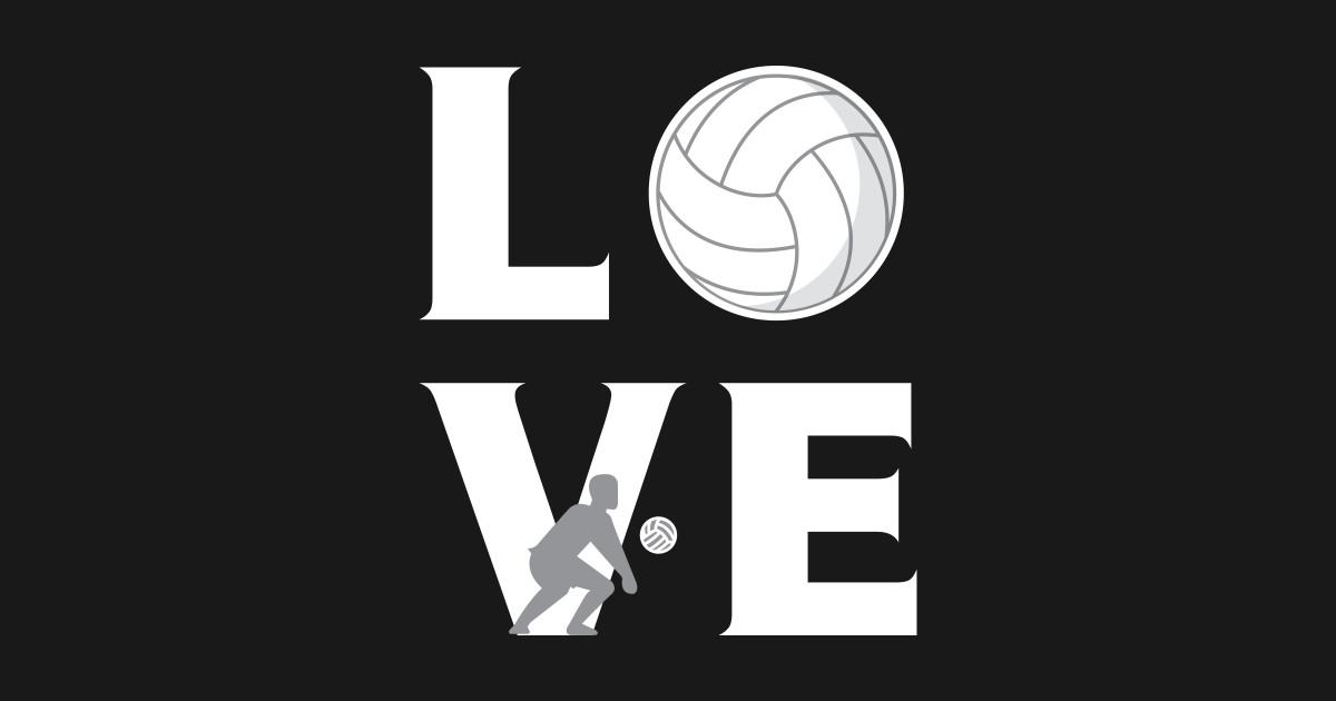 LOVE Volleyball Player Kids Long Sleeve T Shirt