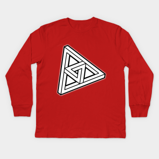Adults, Kids, Short /& Long Sleeve DARK T-Shirt The Penrose Triangle From A Journey Through Time