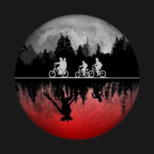 Stranger things illustrated graphic t shirt t-shirts