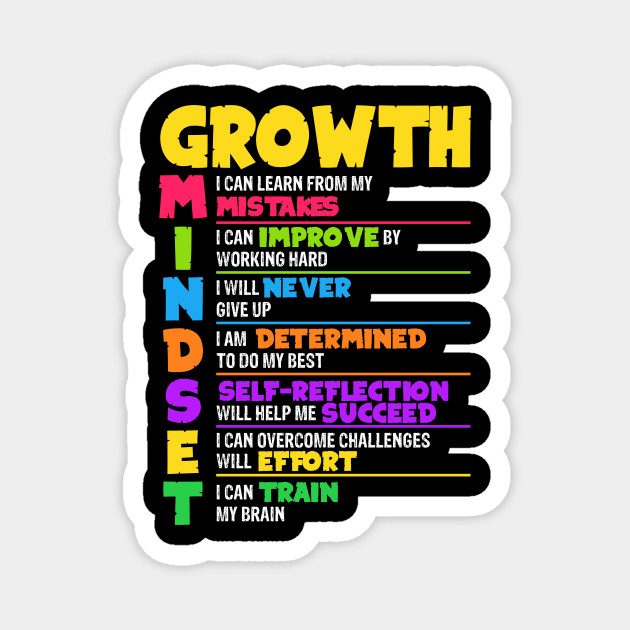 Growth Mindset Inspirational Quotes For Teachers Students Funny Teacher Gift Magnete Teepublic It