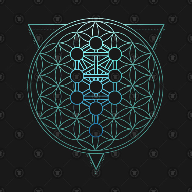 Flower of Life kabbalistic tree of life