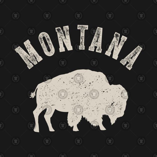 Vintage Montana Buffalo Bison