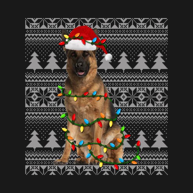 German Shepherd Christmas Sweater.German Shepherd Ugly Christmas Sweater Funny Holiday T Shirt